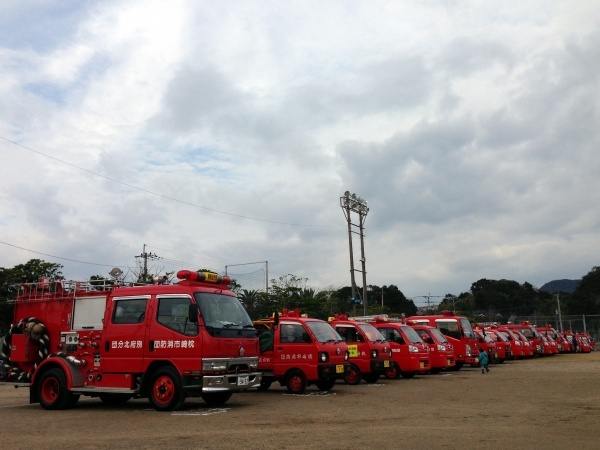 枕崎消防出初式